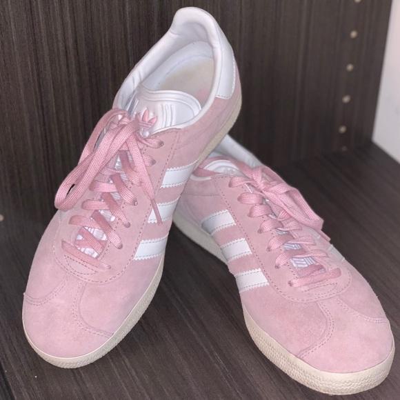 db0edce4d4c61 adidas Shoes - ADIDAS gazelle wonder pink and white
